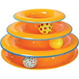Petstages Cat Tracks Cat Toy - Fun Levels of Interactive Play - Circle Track with Moving Balls Satisfies Kitty's Hunting, Cha