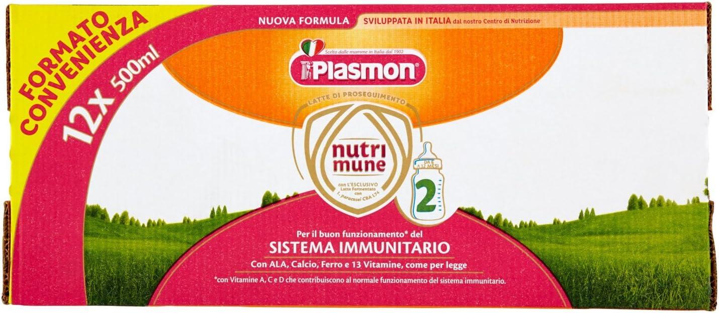 Plasmon Latte Liquido Nutri Mune 2 - 12 confezioni da 0,5 l...