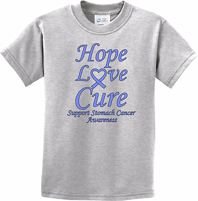 42beda9cc Amazon.com  Buy Cool Shirts Stomach Cancer Hope Love Cure Kids T ...