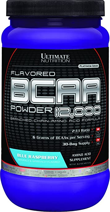 Ultimate Nutrition 100% Crystalline BCAA 12000-457.6 g (Blue Raspberry) Sports Supplements at amazon