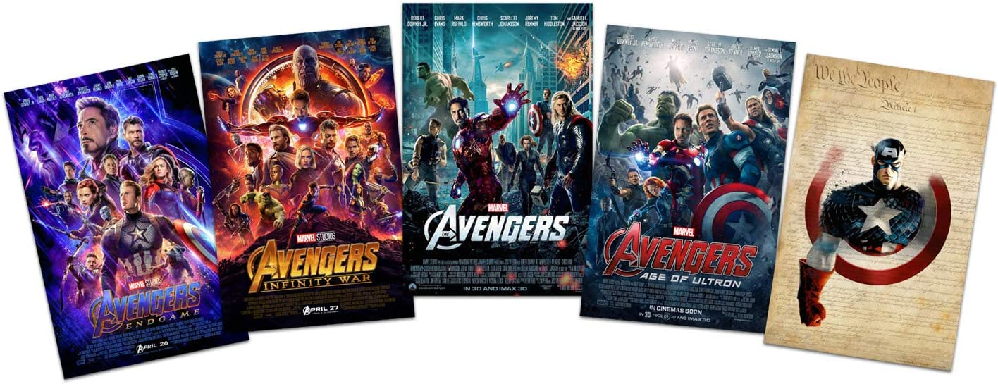Set of 4 - Avengers Movie Posters 11