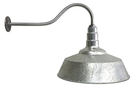 gooseneck lighting fixtures amazon. 20 inch standard steel dome | 23 gooseneck barn light (galvanized) lighting fixtures amazon e