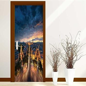 Amazon Chaoranhome 3d Door Mural Wallpaper Collection Themed