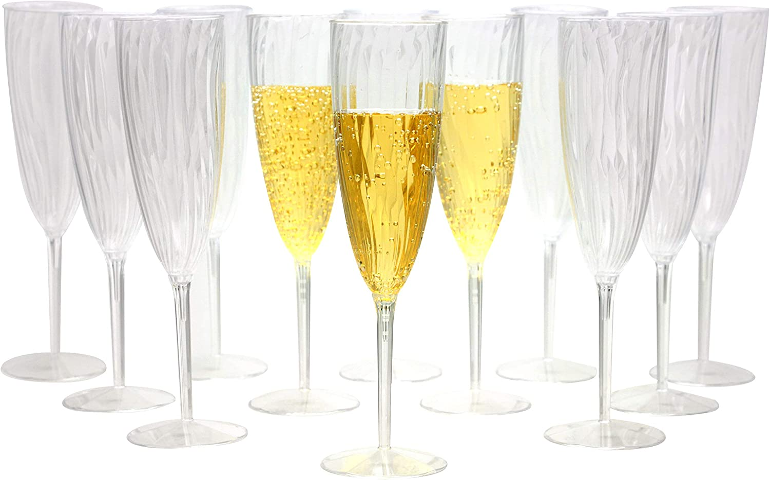 Signature Collection 20 Count Heavyweight Plastic Champagne Flute 5-Ounce Hanna K