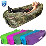 TAG Inflatable Lounger - Blow Up Lounger Inflates in Seconds, Puncture Resistant, Securing Stake & 3 Pockets - Air Lounger Pouch Couch Perfect for Camping, Beach, Park or Pool