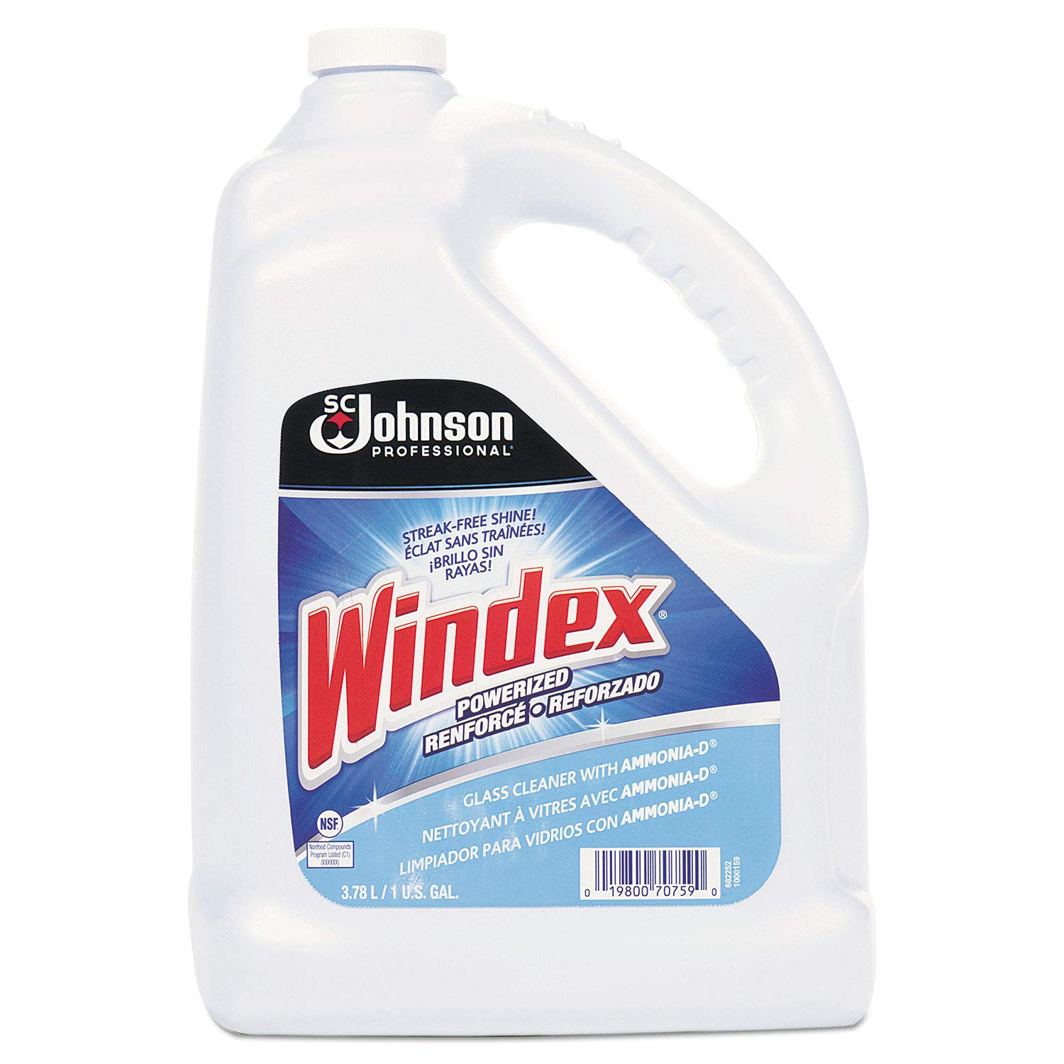 Windex Glass Cleaner 1 Gallon, Pack of 4