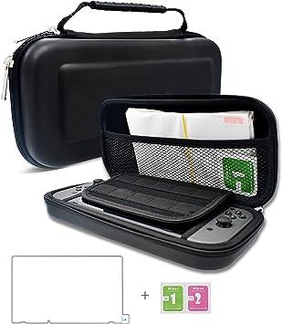 Dailylux Funda para Nintendo Switch,Nintendo Switch Set Accesorios, Funda + 2 Protector LCD +10 Cartuchos de Juegos,Adaptador de Corriente u Otros Accesorios de Nintendo Switch -Negro: Amazon.es: Electrónica