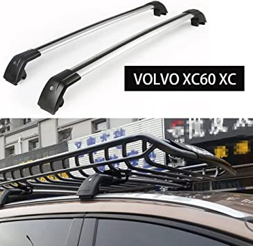 For VOLVO XC60 2013-2017 Roof Rail Rack Cross Bar Car Top Luggage Lockable US