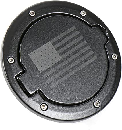 Black Jeep Fuel Filler Cover Gas Tank Cap Cover For 2007-2016 Jeep Wrangler