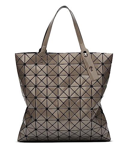 b6eea30fa66 Kayers Sulliva Womens Fashion Geometric Plaid Tote Bag PU Leather Shoulder  Bag Top-handle Handbags Large
