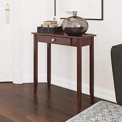 Amazon.com: DHP 5139096 Rosewood Tall Sofa Table Coffee: Kitchen ...