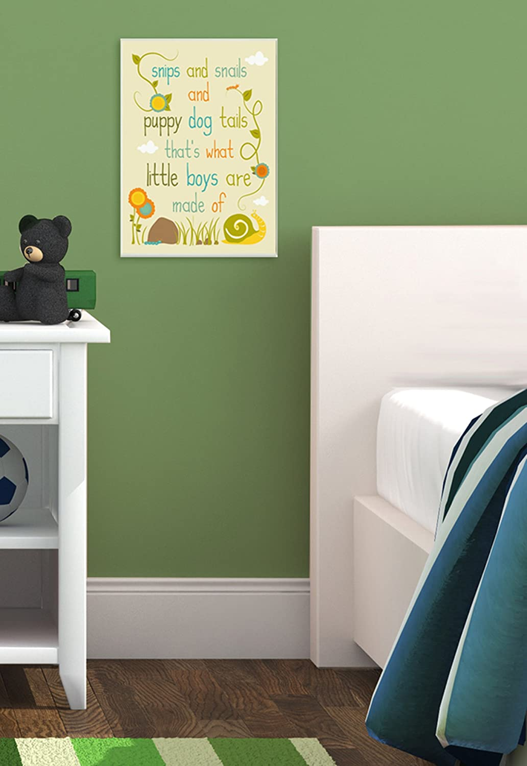 The Kids Room by Stupell Textual Art Wall Plaque A Noise with Glitter on It