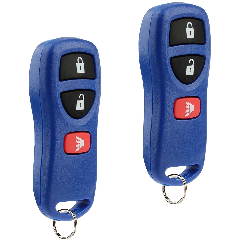 Key Fob Keyless Entry Remote fits Nissan Altima Maxima 350Z Armada Quest Sentra // Infiniti EX35 FX35 FX45 G35 I35 Q45 QX56 KBRASTU15 Red Set of 2