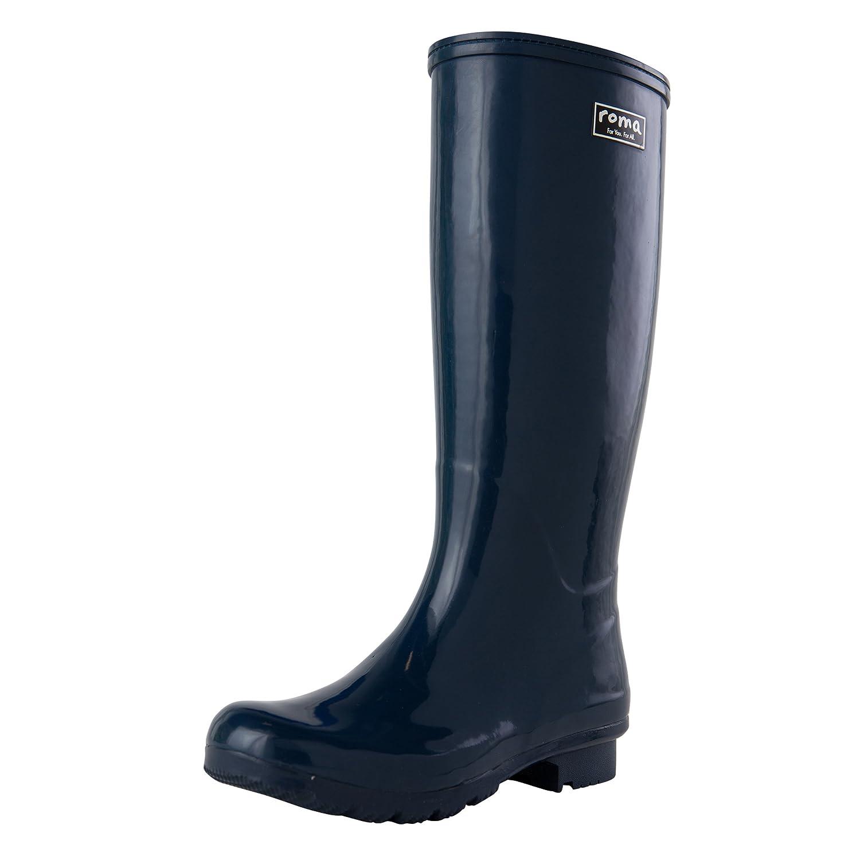 Roma Boots Women's Emma Classic Rain Boots B071L9N41S 7 B(M) US|Navy
