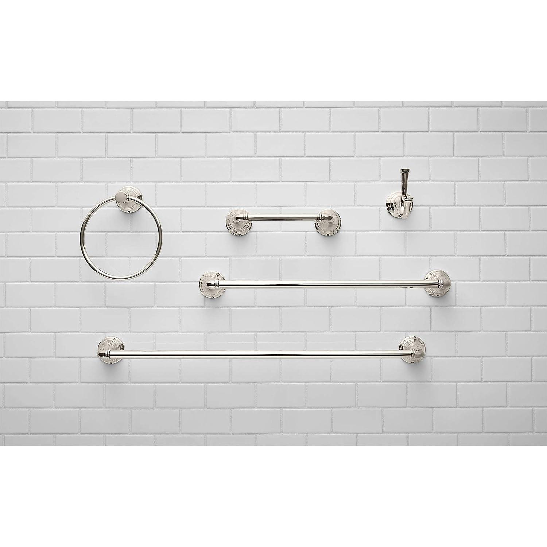 Brushed Nickel American Standard 7052190.295 Delancey Towel Ring