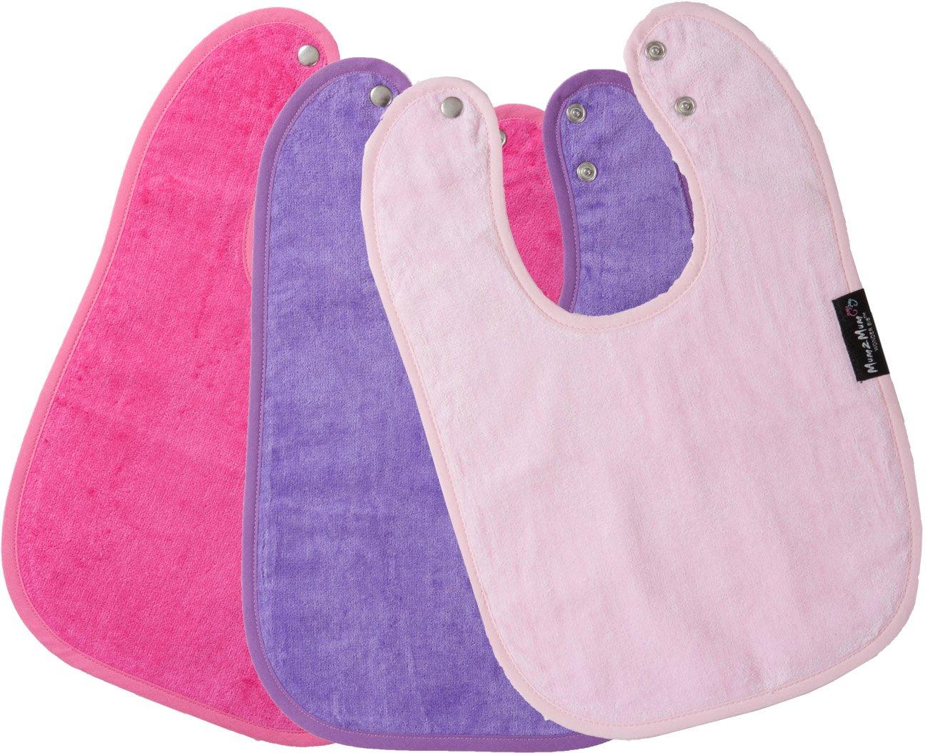 Mum2Mum Standard Wonder Bib Multipack in Baby Pink/Cerise/Purple