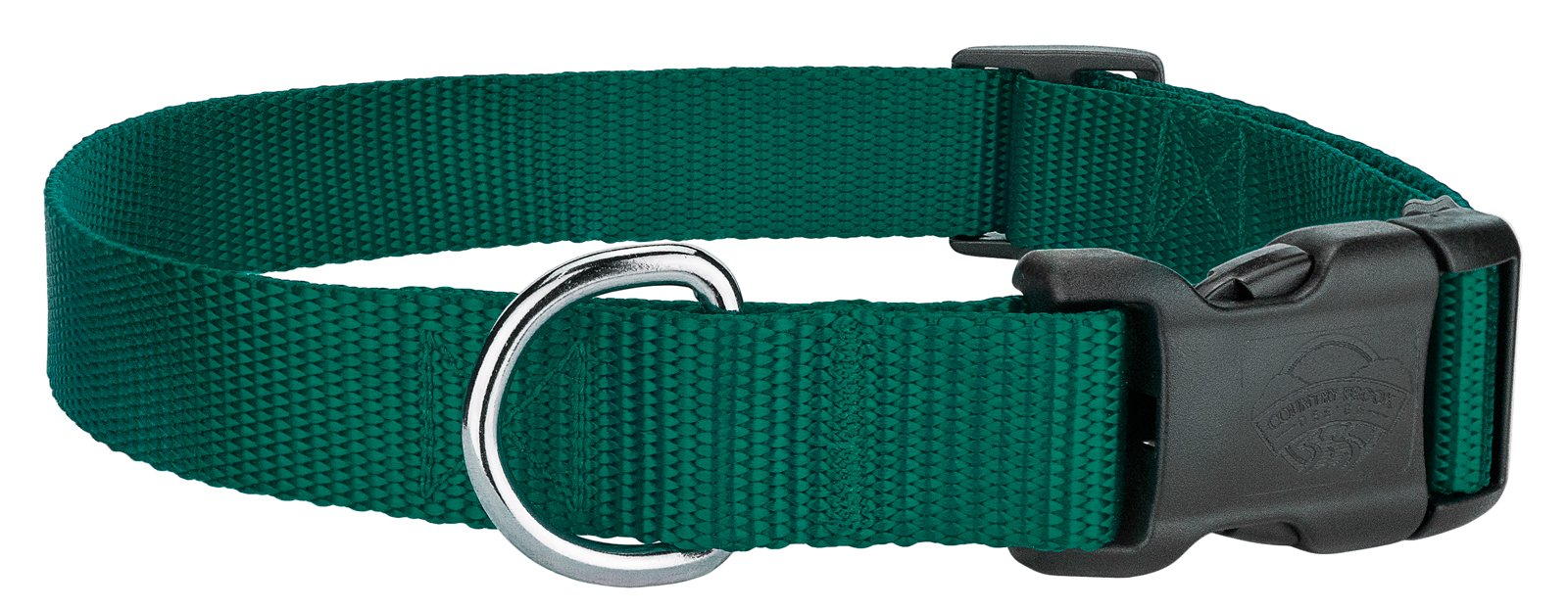 Country Brook Design 25 - Deluxe Nylon Dog Collars - Green - Extra Small