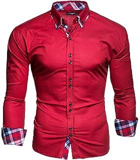 Kayhan Hombre Camisa Manga Larga Slim Fit S - 6XL Modello Monaco: Amazon.es: Ropa y accesorios