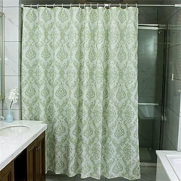 Paisley Duschvorhänge für Badezimmer, grün, schimmelresistent ...