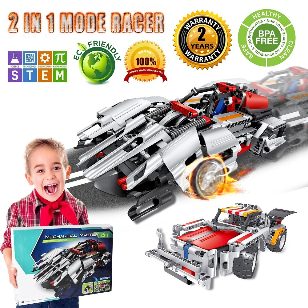 Engineering Toys, STEM Learning Kits, Educational Construction RC Racer Building Blocks Set for 7, 8 and 9 Year Old Boys|Top Xmas Gift Ideas for Kids Age 6yr-14yr Review