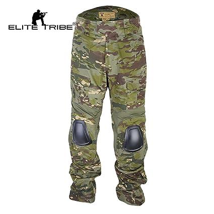 Elite Tribe Airsoft Hunting Tactical Pants Combat Gen3 Pants with Knee Pad  Multicam Tropic (S b8f67ea1c303