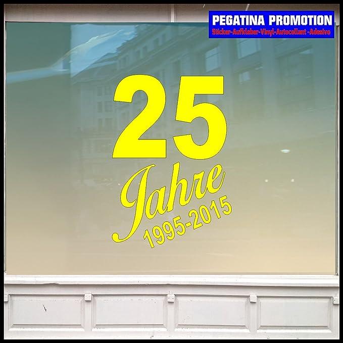 25 Jahre Jubiläum 60 Cm Aufkleber Für Schaufenster Alle Glatten Flächen Sale Rabatt Ausverkauf Zu Vermieten Ladeneinrichtung Aussenwerbung Verkauf Viele Farben Zur Auswahl Saleaufkleber Neueröffnung Open Auto