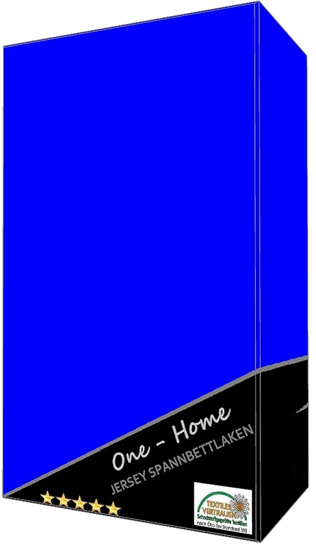 one-home Spannbettlaken Babybett Kinder Royalblau königsblau 60x120 cm - 70x140 cm Jersey