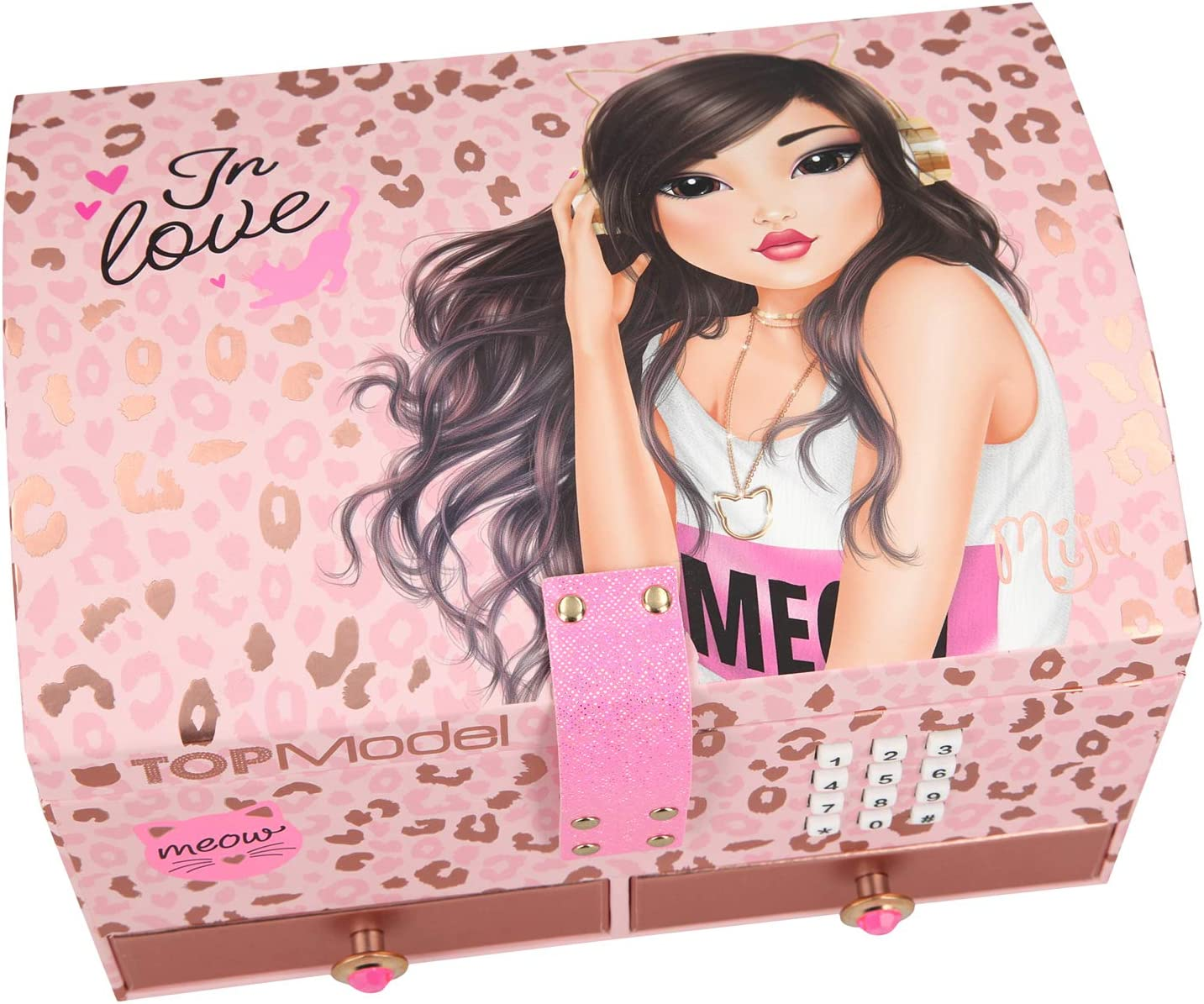 TOPModel Big Jewellery Box With code and sound Pink