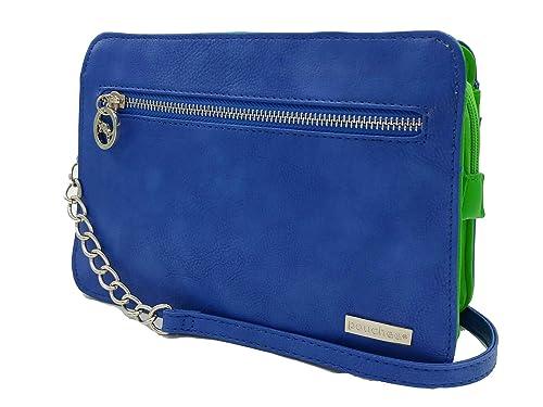a7b2872002fd14 Pouchee Avi Crossbody Handbag/Organizer Purse (Blue/Green): Handbags ...