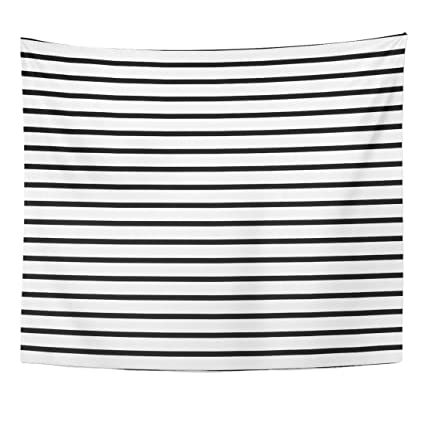 Amazon Com Emvency Tapestry Colorful Stripe Thin Black And White