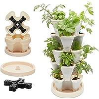 Vertical Indoor Herb Garden, Stackable Planter Pots, Up to 15 Plants (11 Pieces)