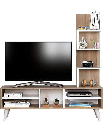 8eade4d012777 HOMIDEA Lily Set séjour – Meuble TV Porte avec étagère en Moderne Design