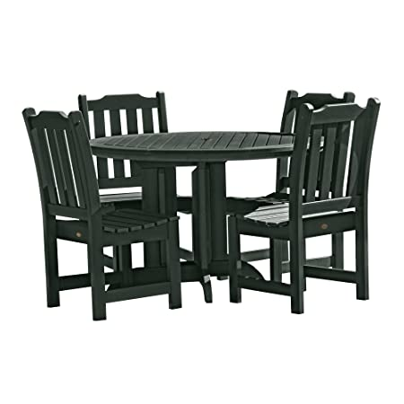 Highwood 5 Piece Lehigh Round Dining Set, Charleston Green