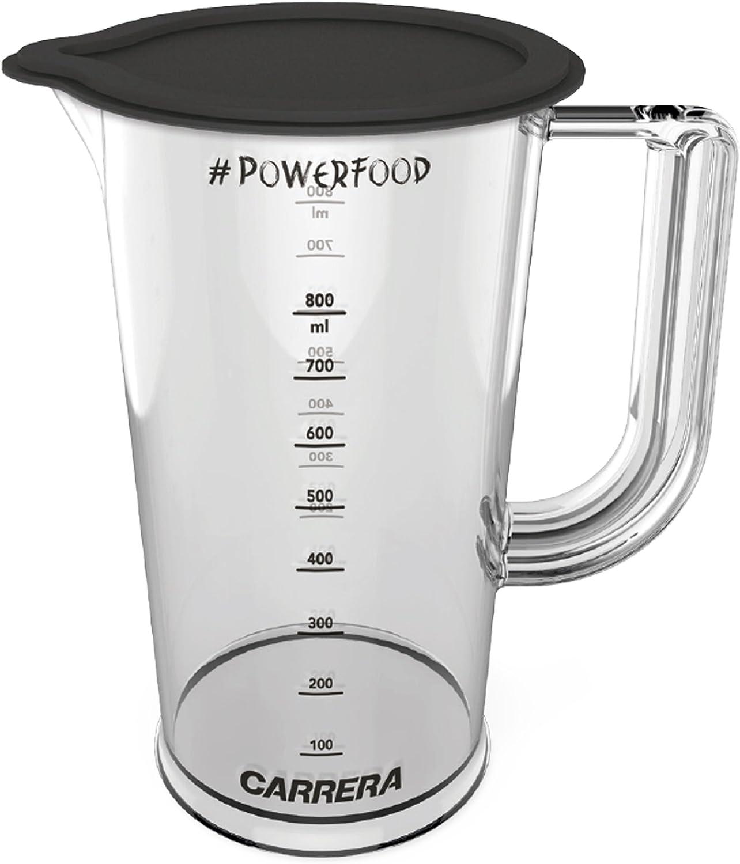 Vaso medidor CARRERA con tapa cerrable | Para batidoras de mano | Plástico (libre de BPA) | 800 ml