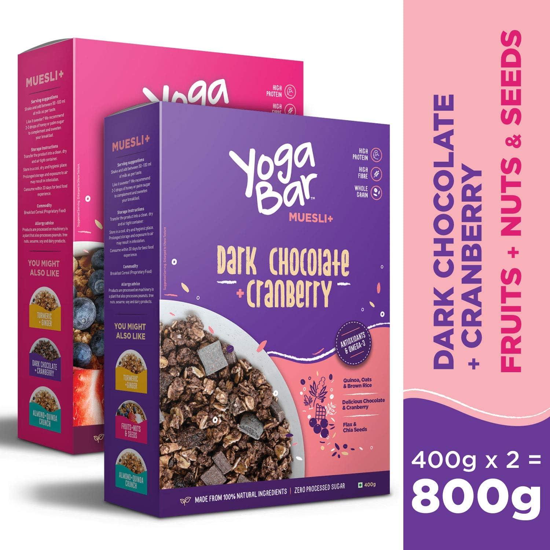Amazon.com: Yogabar - Muesli de desayuno de grano entero ...