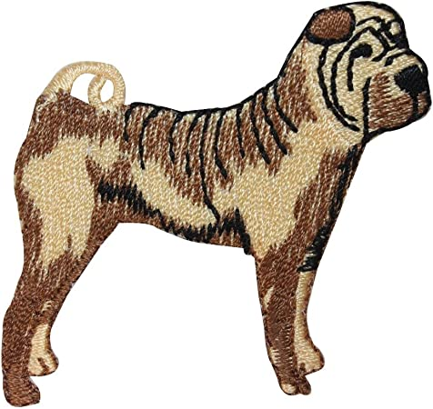 ID 2786 Shar Pei Dog Patch Saggy Skin Puppy Breed Embroidered Iron On Applique