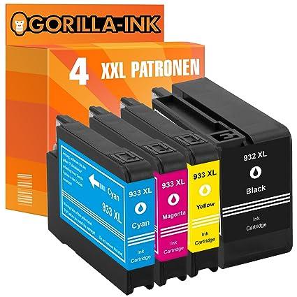 Gorilla de Ink® Juego de 4 cartuchos de tinta XXL equivalente a HP ...