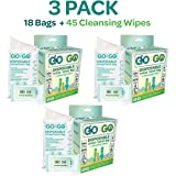 Go On The Go Disposable Urinal and Vomit Bags for Female and Male, Take Along for Travel, Traffic, Hiking or Camping - 6 Urinal/Vomit Bags Bonus 15 Cleansing Wipes Included, Pack of 3