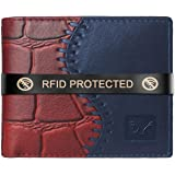 AL FASCINO Stylish RFID Protected Genuine Leather Wallet Mens
