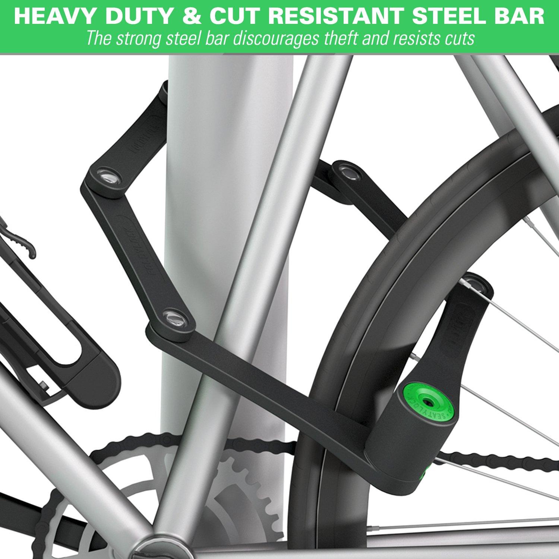 foldylock 自行车锁加厚可折叠自行车锁