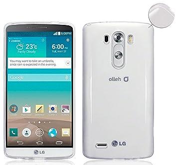 TBOC® Funda de Gel TPU Transparente para LG G3 S D722 de Silicona ...