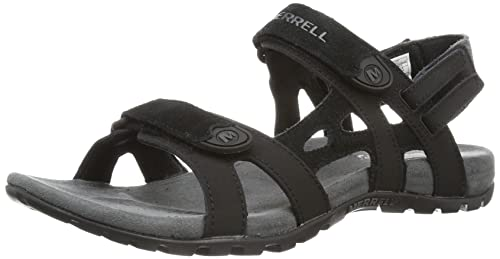 Merrell Sandspur Convertible, Men Open Toe Sandals, Black (Black), 12 UK (46 EU)