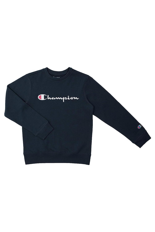 Champion Unisex Heritage Fleece Script Pullover Sweatshirt Small, Granite Heather