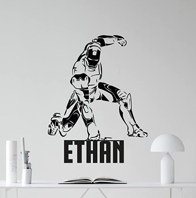 HULK SPIDERMAN AVENGERS SIZE IRON ON TRANSFER 6x15cm PERSONALISED NAME