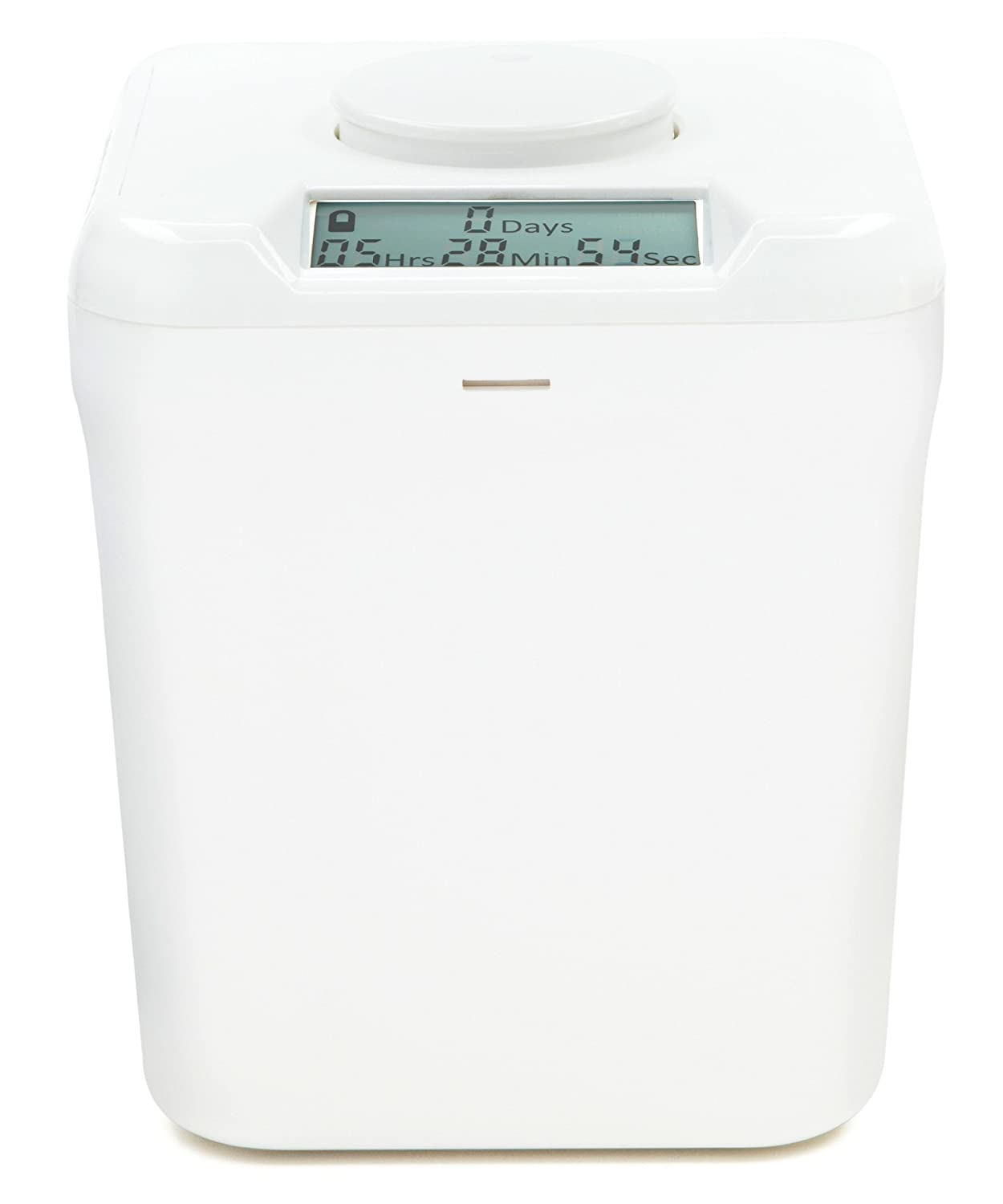 """Kitchen Safe: Time Locking Container (White Lid + White Base) - 5.5"""" Height"""