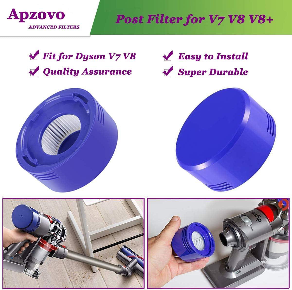Filtros de Repuesto Lavables para Dyson Aspiradora Inalámbrica V7 V8 Animal y Absolute, 2PCS Pre Motor Filtros, 2PCS Post Motor HEPA Filtros y 1PC Herramienta de Limpiar: Amazon.es: Hogar