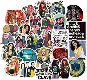 50pcs Rivedale Stickers Cute Cartoon Laptop Stickers Riverdale TV Show Theme Stickers Waterproof Vinyl Stickers for Teen Kids Adults Laptop Water Bottles Hydro Flask Skateboard Luggage Decal