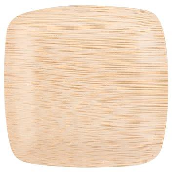 Bambu 063800 3 1/2\u0026quot; Disposable Square Bamboo Tasting Plate - 250 / Case  sc 1 st  Amazon.com & Amazon.com | Bambu 063800 3 1/2\