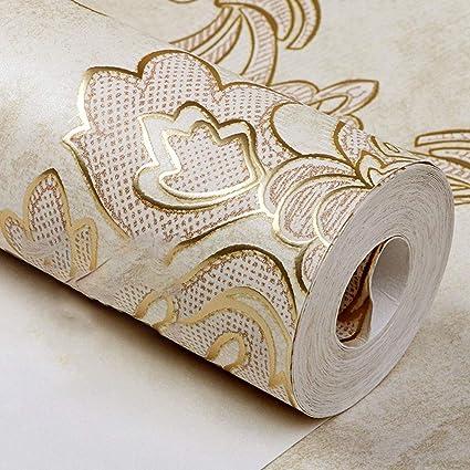 Modern luxury Damascus wallpaper sheet metal master bedroom ...