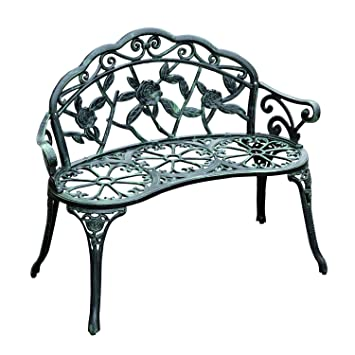 Amazon  Outsunny Cast Iron Antique Rose Style Outdoor Patio
